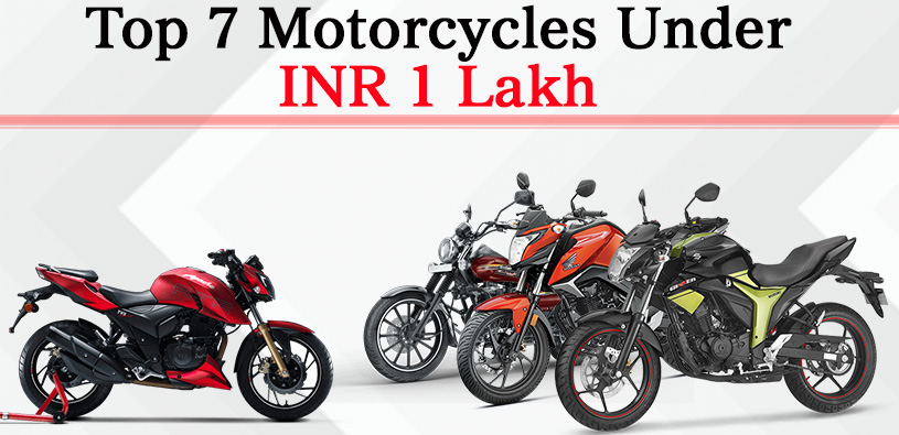 top 7 motorcycles under inr 1 lakh