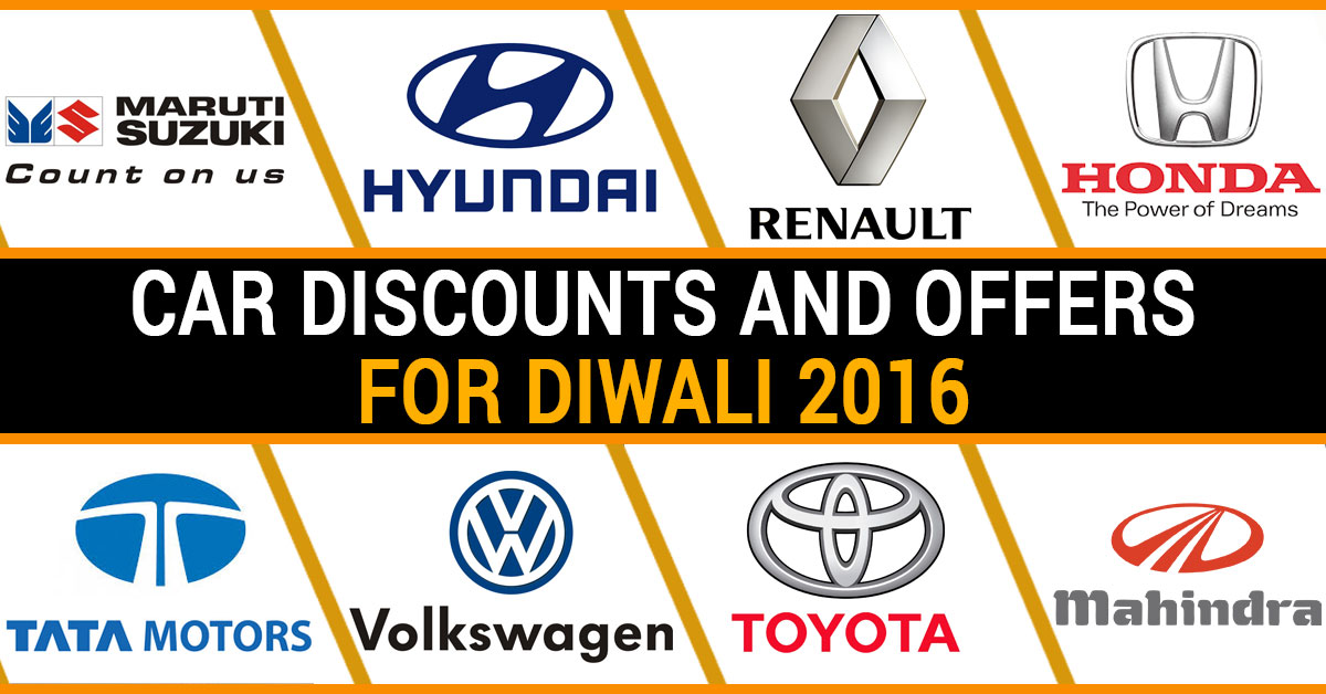 Car Discounts and Offers for Diwali 2016