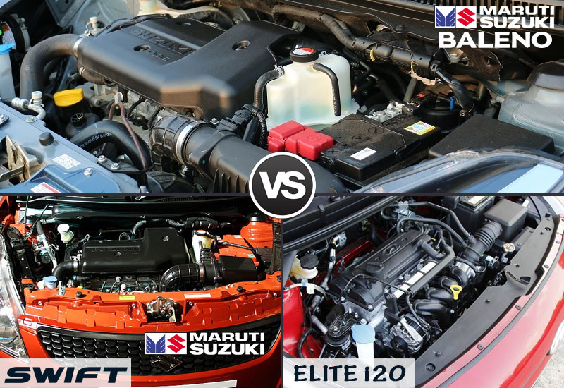 baleno-vs-swift-vs-elite-i20-engine