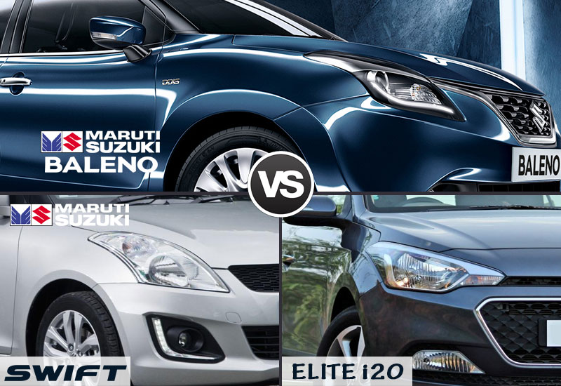baleno-vs-swift-vs-elite-i20-exterior
