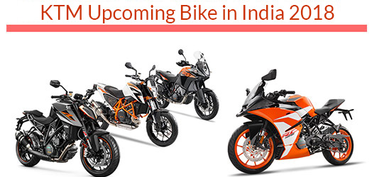Upcoming KTM Bikes in India 2018