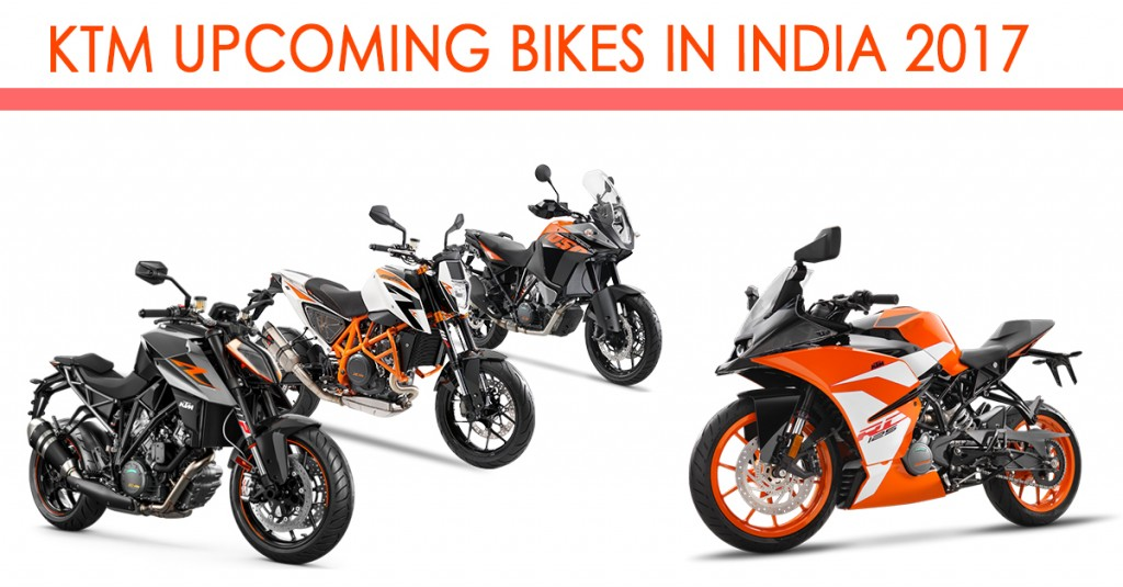 KTM Upcomig Bikes in India