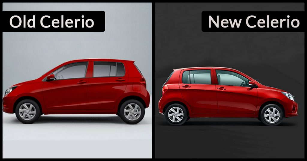 New 2018 Celerio Dimension vs Old Celerio Dimension