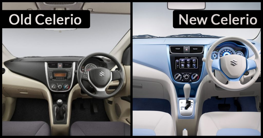 New 2018 Celerio Interior vs Old Celerio Interior