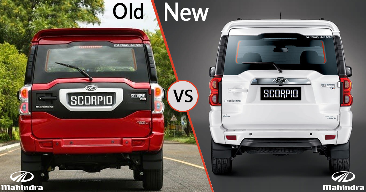 New vs Old Mahindra Scorpio Exterior