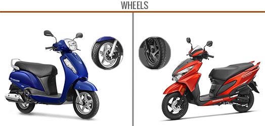 honda grazia vs suzuki access wheels