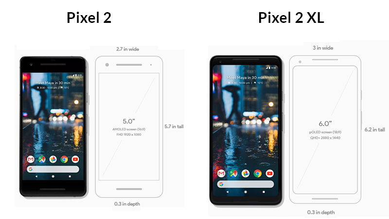 Pixel 2 and Pixel 2 XL Design