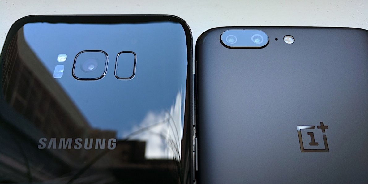OnePlus 5T vs Samsung Galaxy S8 mobile Comparison