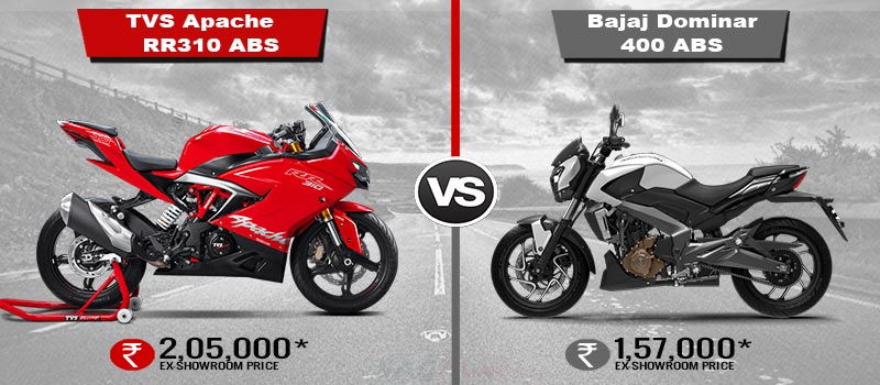 Compare New Apache RR 310 VS Bajaj Dominar 400