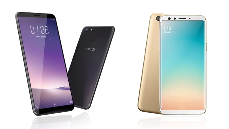 Oppo F5 vs Vivo V7 Plus Feature Comparison
