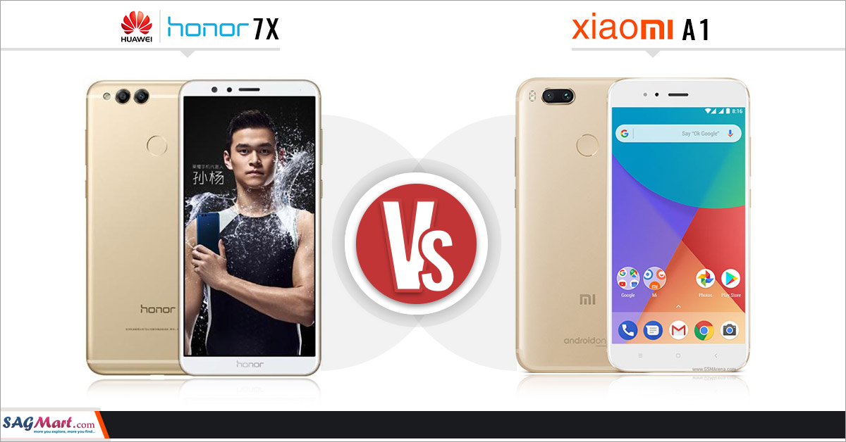 Huawei Honor 7X vs Xiaomi Mi A1