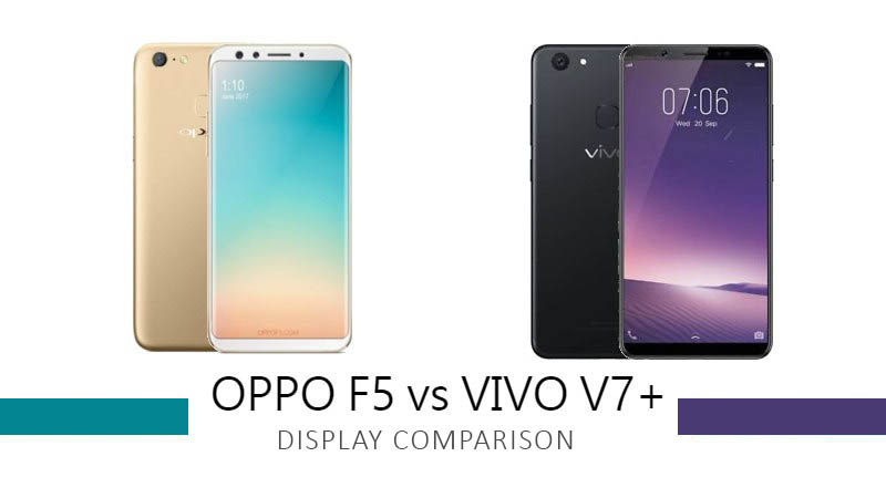 Oppo F5 vs Vivo V7 Plus Display Comparison
