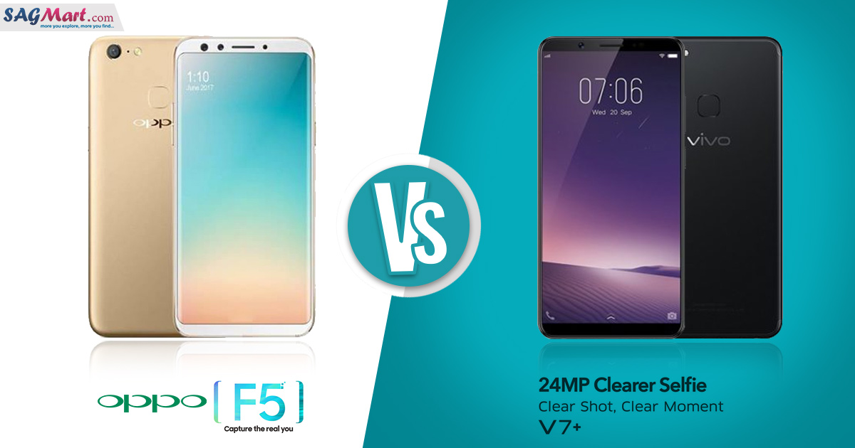 ppo F5 vs Vivo V7 Plus Mobile Comparison