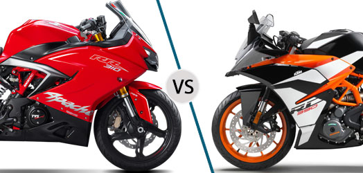 TVS Apache RR 310 vs KTM RC 390 Design