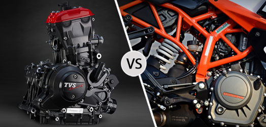 TVS Apache RR 310 vs KTM RC 390 Engine