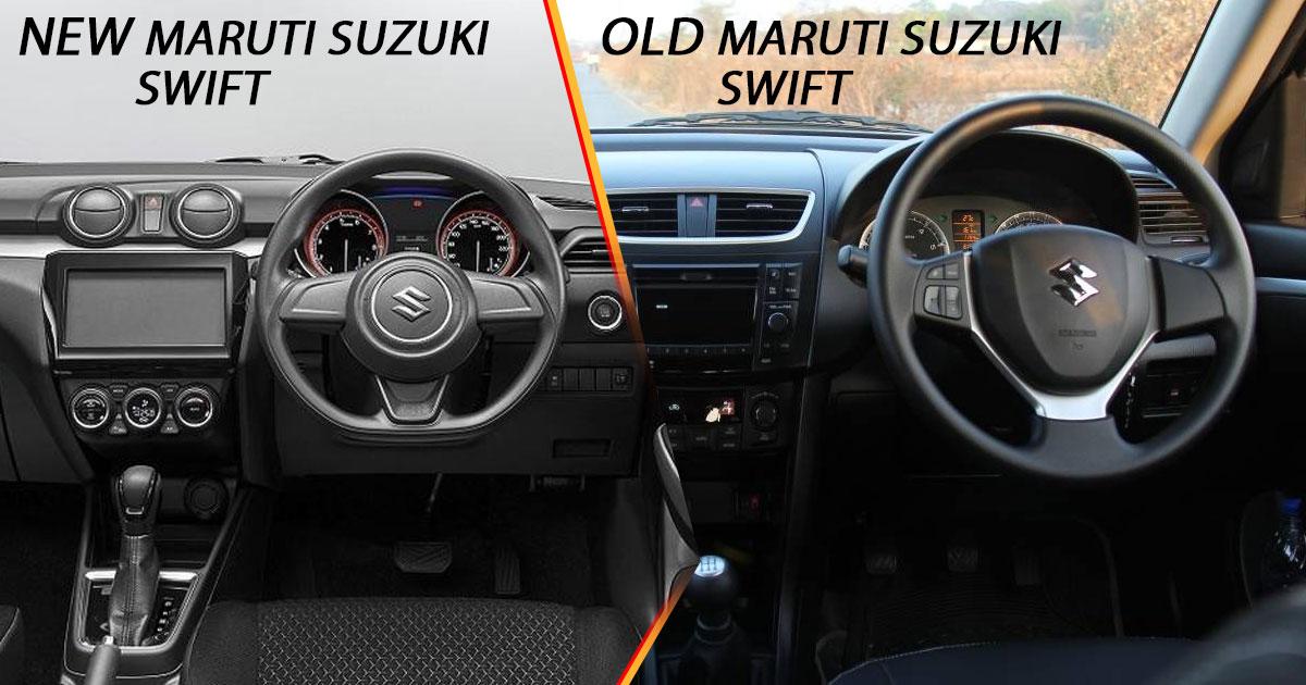 New vs Old Maruti Suzuki Swift Interior