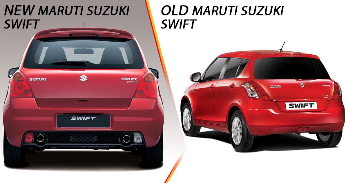New vs Old Maruti Suzuki Swift Rear
