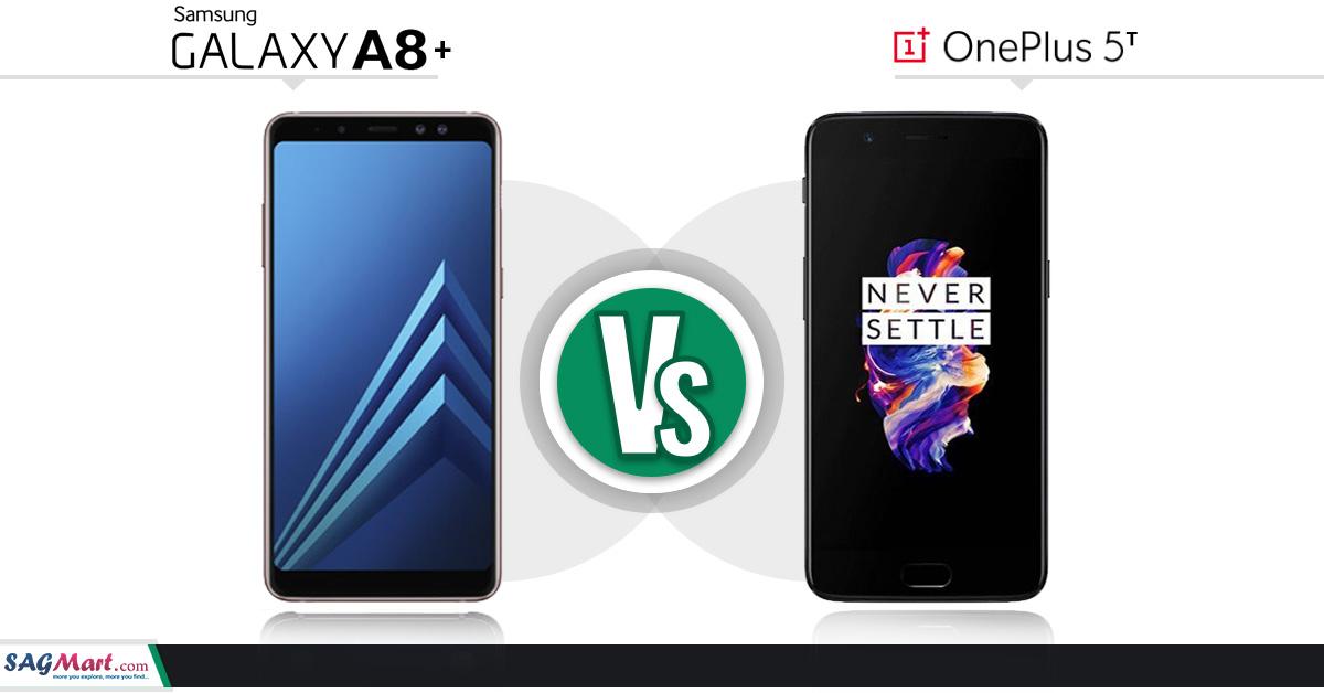 Samsung Galaxy A8+ Vs OnePlus 5T
