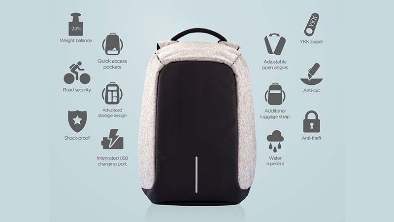 Anti- Theft Laptop Bag_ Backpack With USB Charging
