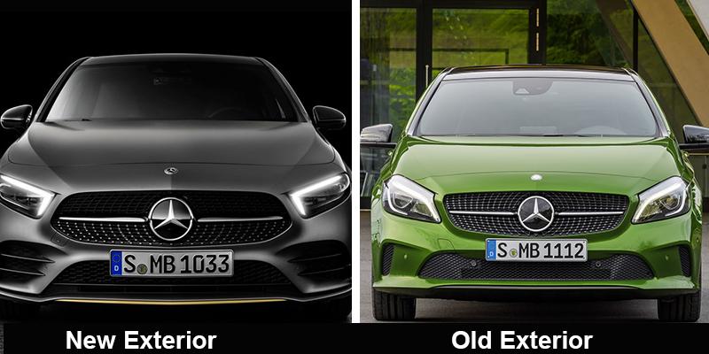 old vs new Mercedes-Benz A-Class Exterior