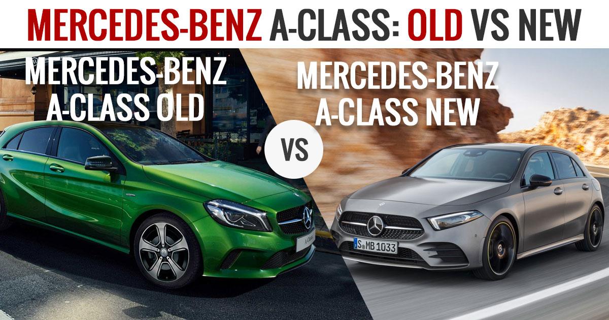 old vs new Mercedes-Benz A-Class