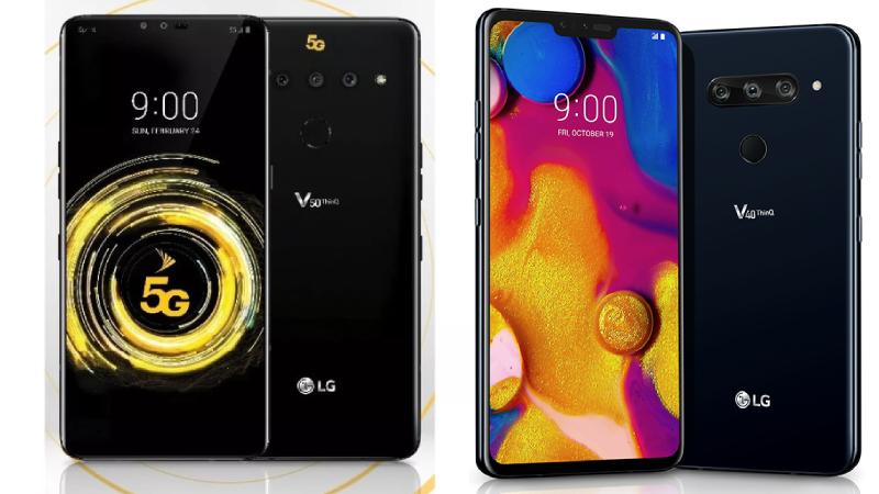 LG V50 ThinQ 5G and V40