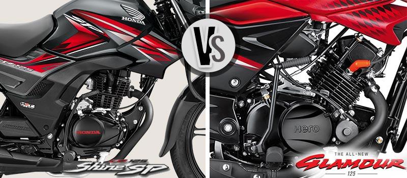 Honda CB Shine SP and new Glamour Engine