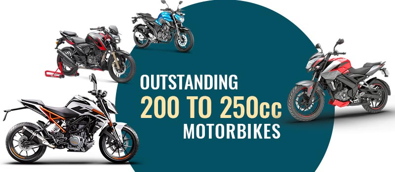 Top 200 to 250CC Motorbikes